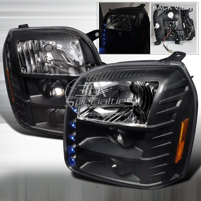 Spec-D: 07-10 GMC Yukon / Yukon Denali; Projector Headlights (Black)