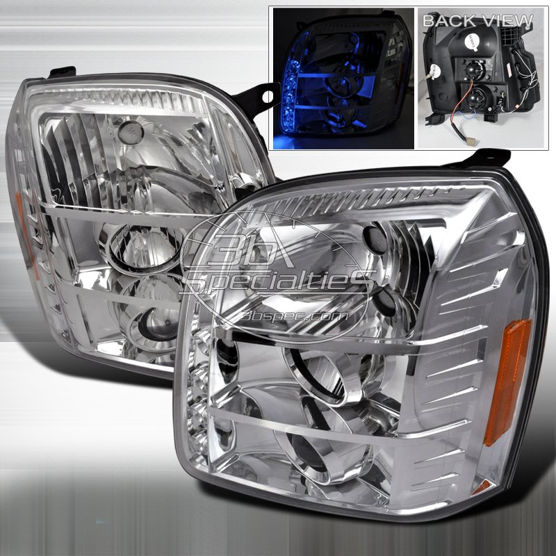 Spec-D: 07-10 GMC Yukon / Yukon Denali; Projector Headlights (Chrome)