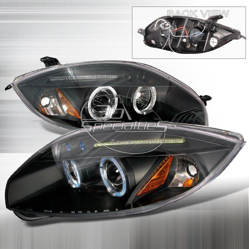 Spec-D: 06-08 Mitsubishi Eclipse; Projector Headlights (Black)