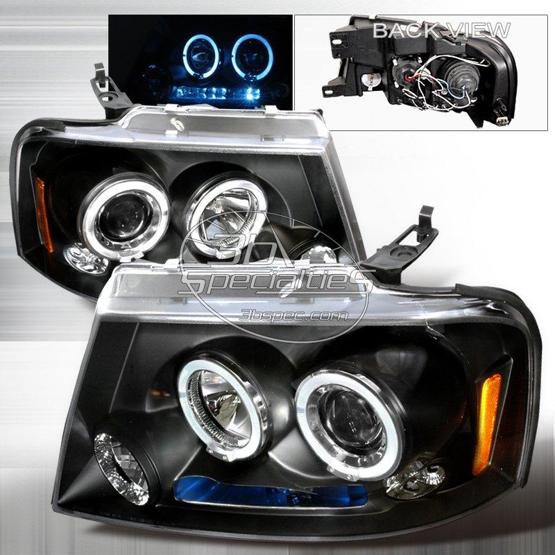 Spec-D: 04-08 Ford F150, Projector Headlights (Black)
