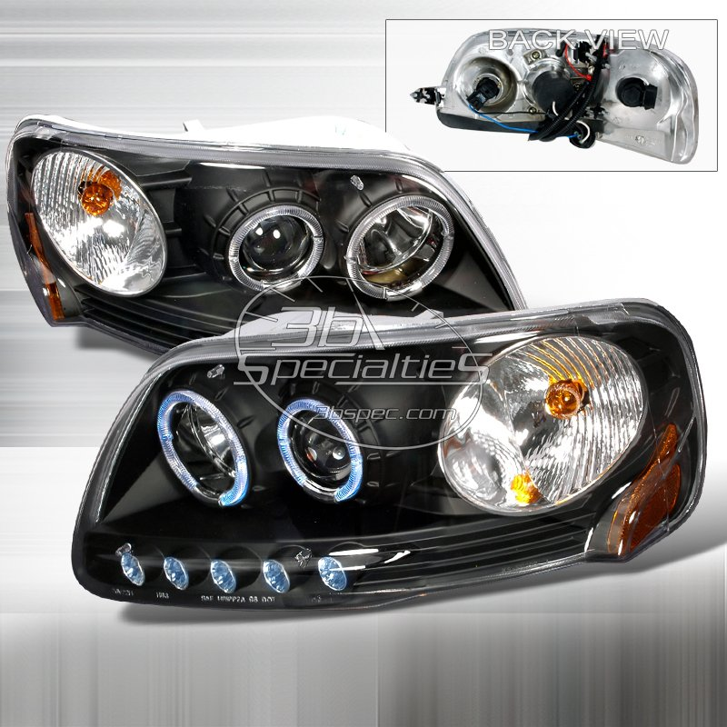Spec-D: 97-02 Ford Expedition; Projector Headlights (Black)
