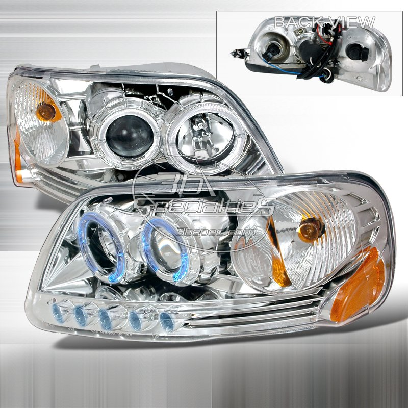 Spec-D: 97-03 Ford F150; Projector Headlights (Chrome)