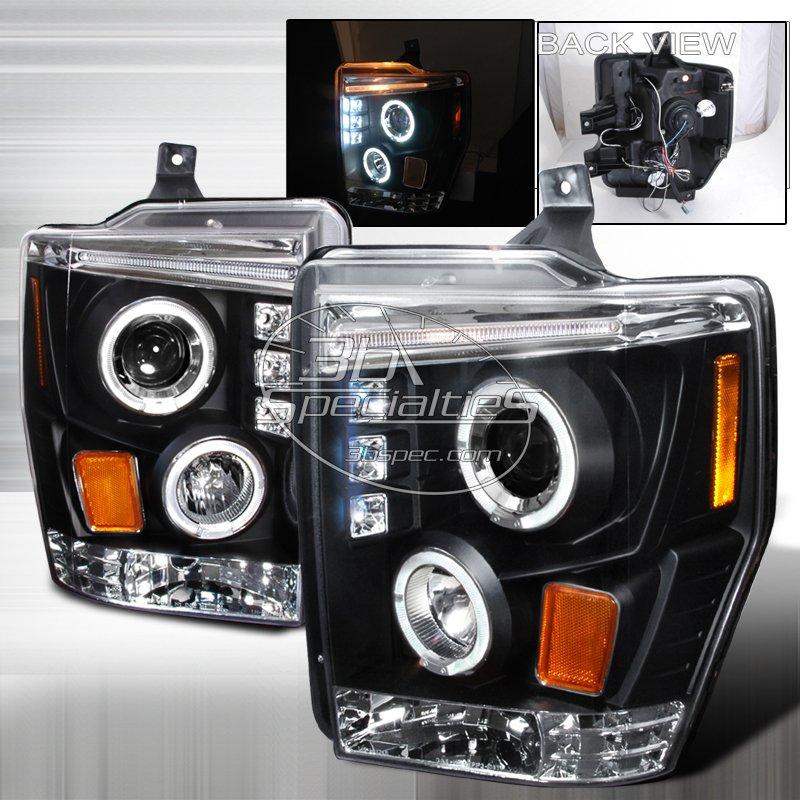Spec-D: 08-10 Ford F250; Projector Headlights (Black)