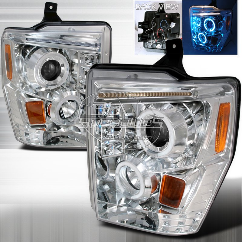 Spec-D: 08-10 Ford F250; Projector Headlights (Chrome)
