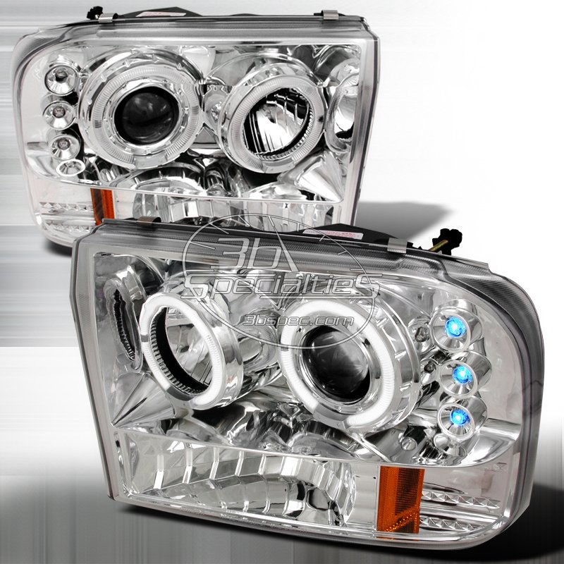 Spec-D: 99-04 Ford F250 / F350; Projector Headlights (Chrome)