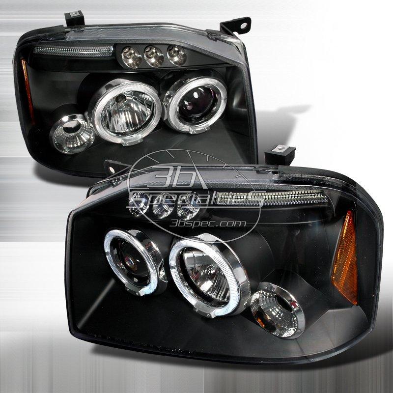 Spec-D: 01-04 Nissan Frontier; Projector Headlights (Black)
