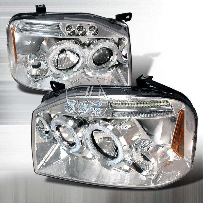 Spec-D: 01-04 Nissan Frontier; Projector Headlights (Chrome)