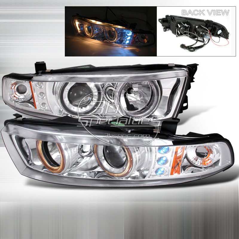 Spec-D: 99-02 Mitsubishi Galant; Projector Headlights (Chrome)