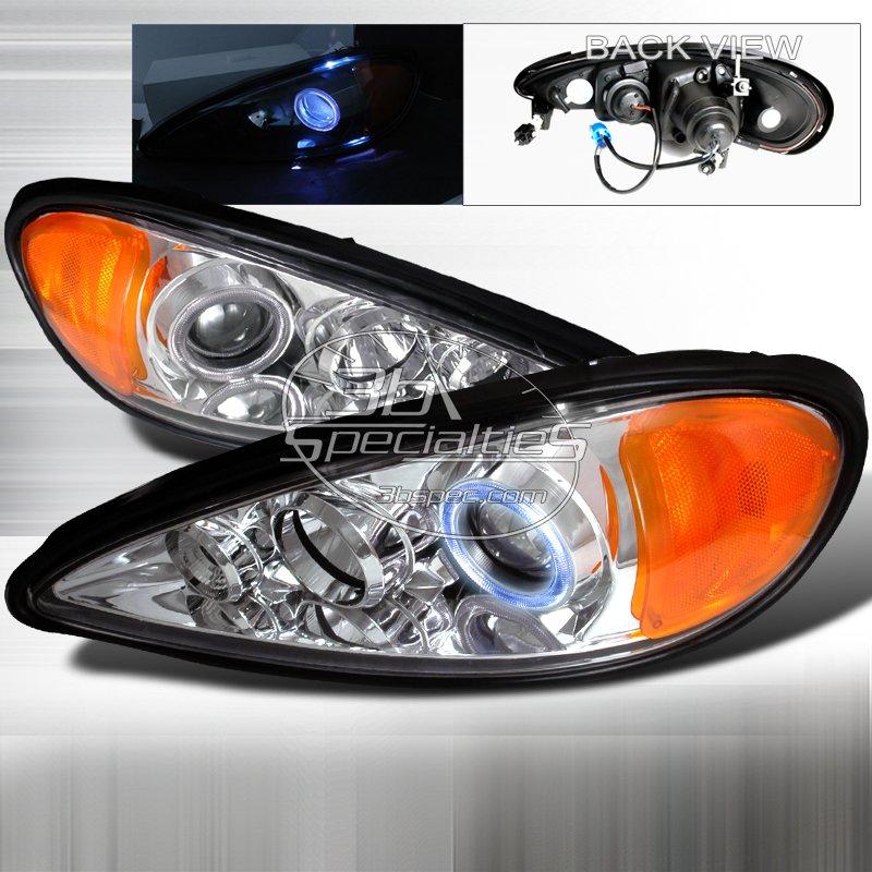 Spec-D: 99-05 Pontiac Grand Am; Projector Headlights (Chrome)