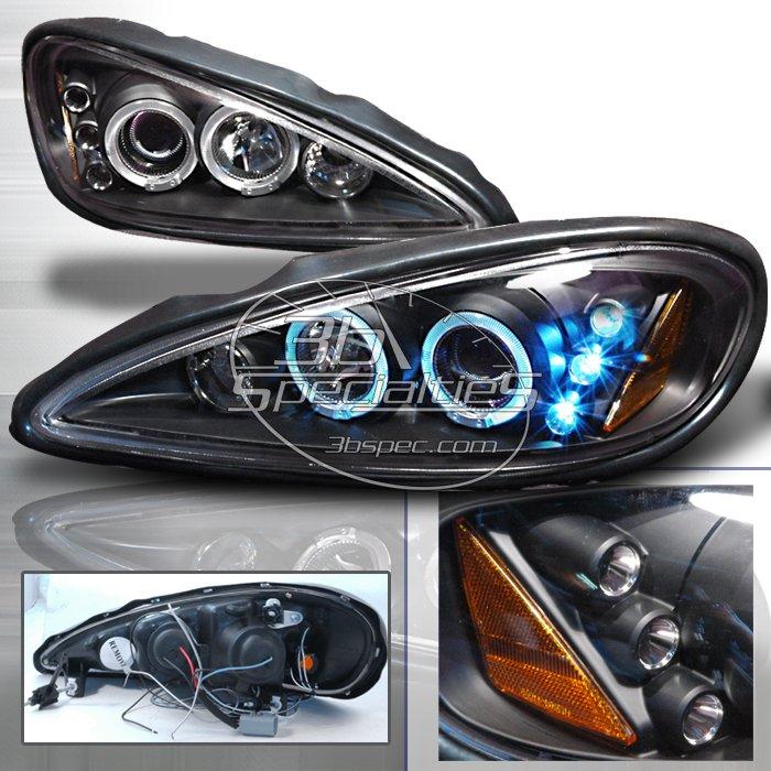 Spec-D: 99-05 Pontiac Grand Am; Projector Headlights (Black)