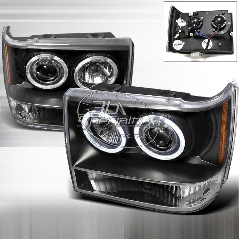 Spec-D: 93-98 Jeep Grand Cherokee; Projector Headlights (Black)