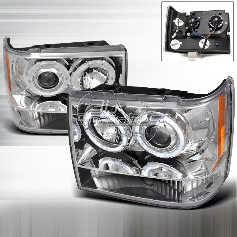 Spec-D: 93-98 Jeep Grand Cherokee; Projector Headlights (Chrome)