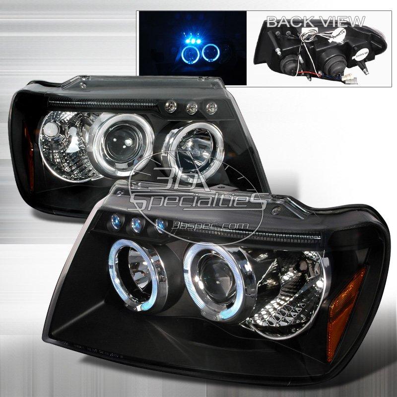 Spec-D: 99-04 Jeep Grand Cherokee; Projector Headlights (Black)