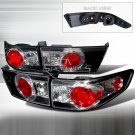 Spec-D: 03-05 Honda Accord 4Dr, Altezza Tail Lights, Black