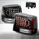 06-08 Dodge Charger, LED Tail Lights, Black