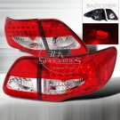 Spec-D: 09-12 Toyota Corolla, LED Tail Lights, Red