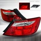 Spec-D: 06-10 Honda Civic 2-Dr, LED Tail Lights, Red
