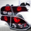 Spec-D: 06-10 Honda Civic 4-Dr, Euro / Altezza Tail Lights, Black