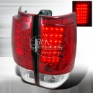 Spec-D: 07-10 Chevy Suburban / Tahoe, LED Tail Lights, Red