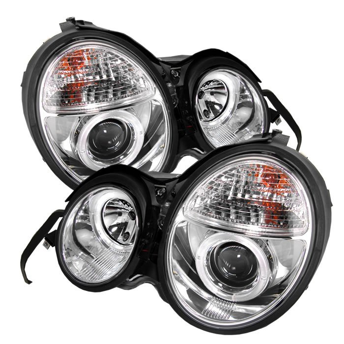 Spyder: 96-99 Mercedes E Class (W210), Projector Headlights, Chrome