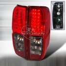 Spec-D: 05-09 Nissan Frontier, LED Tail Lights, Red / Smoked