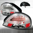 Spec-D: 99-05 Pontiac Grand Am, LED Tail Lights, Chrome