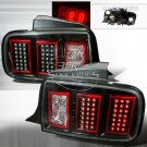 05-09 Ford Mustang, LED Tail Lights, Black