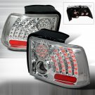 Spec-D: 99-04 Ford Mustang, LED Tail Lights, Chrome