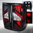 Spec-D: 07-12 GMC Sierra, LED Tail Lights, Black