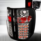 Spec-D: 07-12 Chevy Silverado, LED Tail Lights, Black