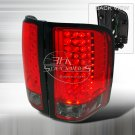 Spec-D: 07-12 Chevy Silverado, LED Tail Lights, Red / Smoked