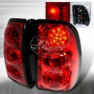 Spec-D: 02-07 Chevy Trailblazer, LED Tail Lights, Red
