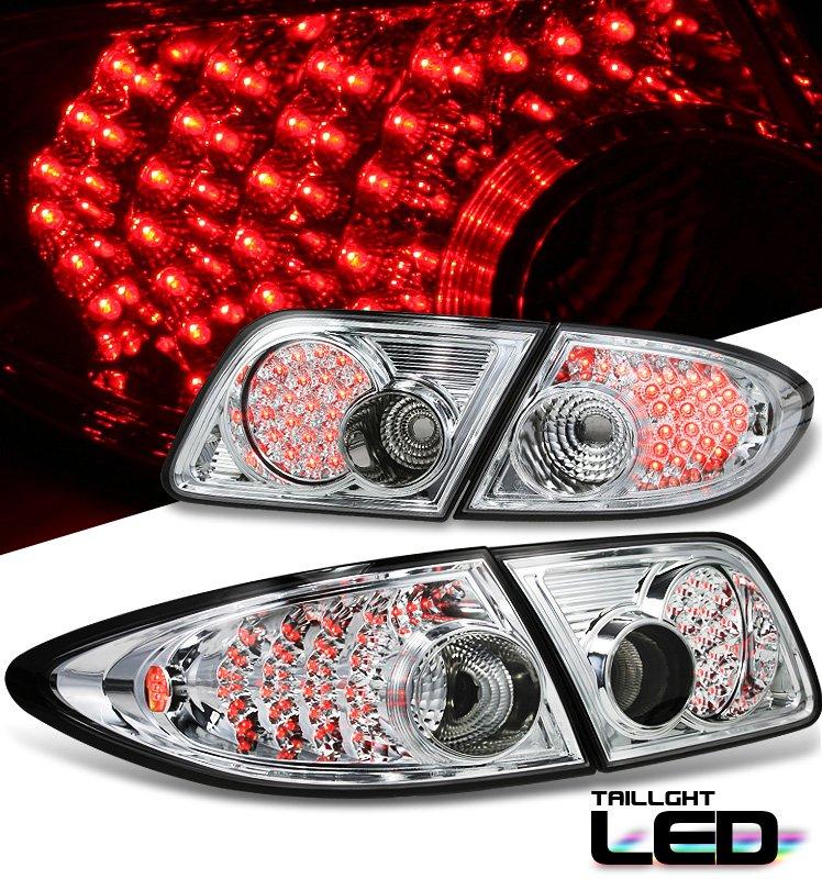 Option: 03-06 Mazda 6, LED Tail Lights, Chrome