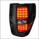 Spec-D: 09-12 Ford F150, LED Tail Lights, Black