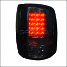 Spec-D: 09-12 Dodge Ram, LED Tail Lights, Smoked