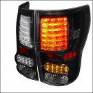 Spec-D: 07-12 Toyota Tundra, LED Tail Lights, Black