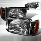 Spec-D: 99-02 Toyota 4Runner, Crystal Headlights, Black