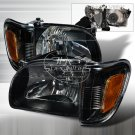Spec-D: 01-04 Toyota Tacoma, Crystal Headlights, Black