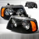 Spec-D: 03-05 Lincoln Navigator; Crystal Headlights (Black)