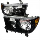 Spec-D: 07-12 Toyota Tundra, Crystal Headlights, Black