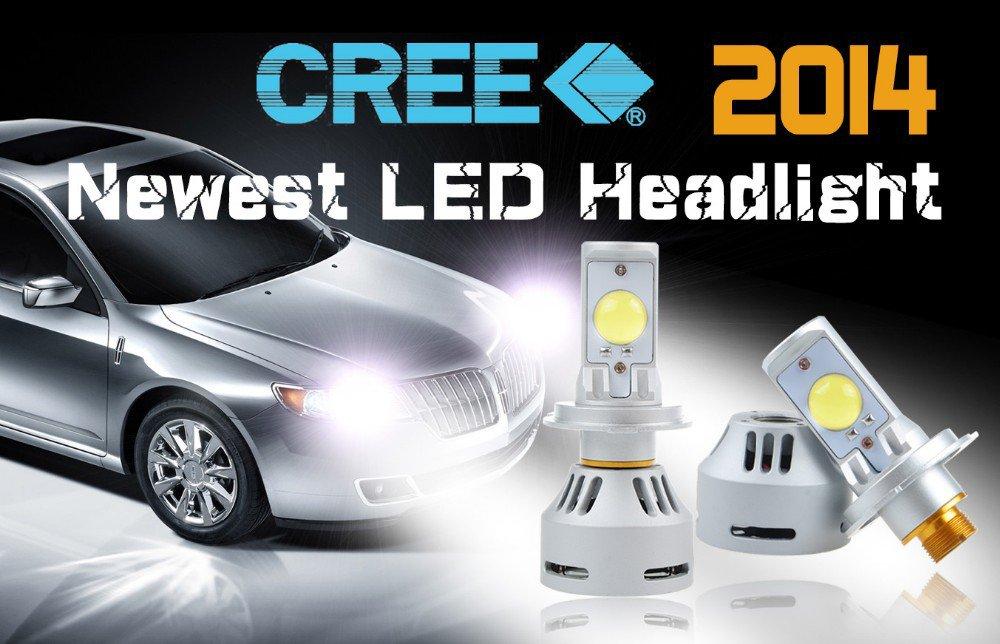 H4 72w 6400LM LED Headlight Kit