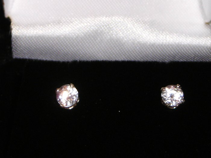 3mm CZ Earrings