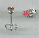 2mm Ruby Earrings