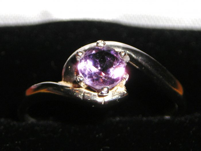 Purple Amethyst Ring