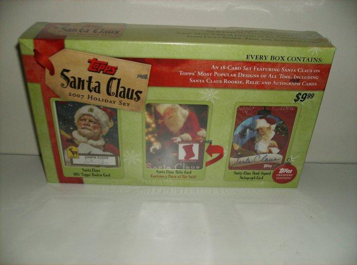 Topps Santa Claus 2007 Holiday Trading Card Sealed Set