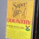 Super Hits 1971 country Cassette Tape