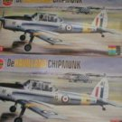 Two Airfix De Havilland Chipmunks 1/72 scale