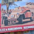 Airfix SD.KFZ.222 Kubelwagen Reconnaissance Set 1/76 scale