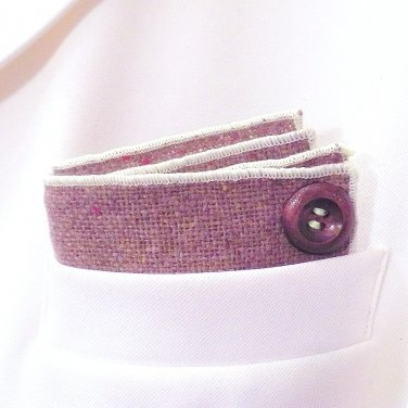 Custom Folded Button Pocket Squares by PocketSquareZ