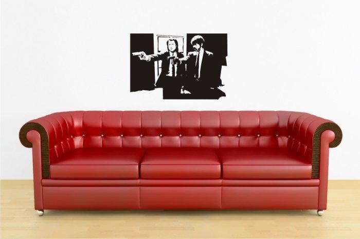 """vinyl wall art decal sticker, pulp fiction (22"""" x 32"""")"""